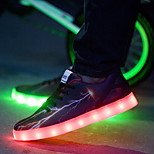 Women's LED Shoes Comfort / Round Toe Flats Outdoor / Casual&Party Shoes Black and Red