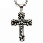 Titanium Cross Pendant Necklace