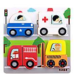 de dibujos animados en tres dimensiones-bloque de construcción rompecabezas (coche de la policía)