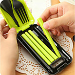 Travel Folding Portable Tableware Suit Combinations Spoon Fork Chopsticks Three-piece 78g