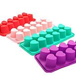 The New 12 Even Heart-Shaped Diy Popsicle Mold Box Lattice Cream Popsicle Mold 5Pcs