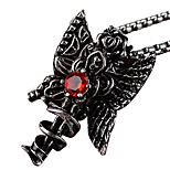 The Titanium Necklace Pendant Card Islamic - Red