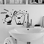 Dental Creative Wall Stickers Waterproof Bathroom Room Decorative Glass Sticker