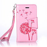 For BQ Aquaris M4.5 Luxury Retro Dandelion Diamonds embossed wallet Phone Cover With Stand Card Holder