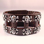Classical Vintage Mens Leather Fashion Jewelry Punk Rock Bracelets For Mens