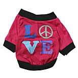 Katzen / Hunde T-shirt Rose Sommer Blumen / Pflanzen Modisch, Dog Clothes / Dog Clothing-DroolingDog