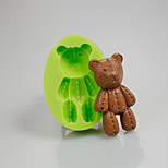 Baby Teddy Bear Silicone Molds Fondant Cake Decoration Sugarcraft Tools Polymer Clay Fimo Chocolate Candy Soap Making