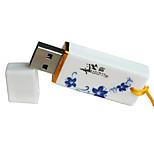 azul y blanco tarjeta de memoria flash de alto grado caliente de metal elegante de la moda