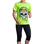 Sports Bike/Cycling Jersey + Shorts / Tops / Bottoms Men's Short Sleeve Breathable / Sweat-wicking Elastane Sport GreenS / M / L / XL /