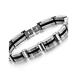 Men's Hight Quality Titanium Steel Silver Chain Bracelet