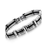 Men's Hight Quality Titanium Steel Silver Chain Bracelet