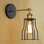 E27 40W 220V-240V Single-Headed American Style Retro Retro Minimalist New Decorative Wall Sconce Black