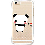 Waterproof / Transparent Animal TPU&Silicone Soft Shockproof Pandas Case Cover For iPhone 6s Plus/6 Plus/6s/6/SE/5s/5