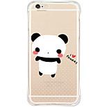 zurück Wasserdichte / Stoßfest / Transparent Tier TPU Weich TPU&Silicone Soft Shockproof Pandas Fall-Abdeckung für AppleiPhone 6s Plus/6