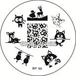 Cat Deer Sheep Nail Art Stamping Template Image Plate BORN PRETTY BP #59