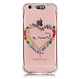 Love Match Pattern Resistance Calls Flashing TPU Soft Case Phone Case for iPhone 5/5S/SE/6/6S/6S Plus/6S Plus