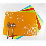 Thick Waterproof Pattern Silicone Mat Western Pad Heat Pad Baking Mat 5Pcs