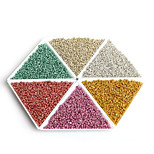 Beadia 30g(Approx 2000Pcs) 12/O Metallic Glass Seed Beads 2mm Spacer Loose Beads