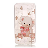 TPU + IMD Material Bear Pattern Slim Phone Case for  LG K8/K7/K4/G5