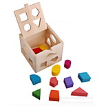 Wooden Educational Toys Children's Toys Thirteen Hole Intelligence Box Shape Paired with Infants