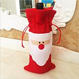 2015 Hot European And American Santa Claus Red Bottle Sets Wine Bag