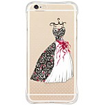 Back Shockproof/Transparent Wedding Dress TPU Soft Case Cover For Apple iPhone 6s Plus/6 Plus/iPhone 6s/6/iPhone SE/5s/5