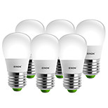IENON® 6 pcs 3W E27 LED Globe Bulbs S14 6 SMD 240-270 lm Warm White / Cool White Decorative AC 100-240 V