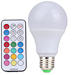 YWXLight E27 Dimmable RGBW Lamp Led Bulbs 10W Colorful RGB Bulb 85-265V Chandeliers Led Light + IR Remote Controller