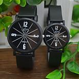 Couple's Casual Rubber Band Quartz Watch