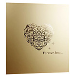 6 inch 200 pcs golden love-heart photo album
