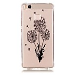 Back Pattern Dandelion TPU Soft Luxury Bronzing Case Cover For Huawei Huawei P9 / Huawei P9 Lite / Huawei P8 Lite