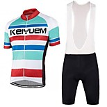 KEIYUEM®Others Summer Cycling Jersey Short Sleeves + BIB Shorts ropa ciclismo Cycling clothing Suits #61