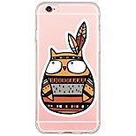 Cartoon Owl Pattern Soft Ultra-thin TPU  Back Cover For iPhone 6 Plus/6s/6/5s/5