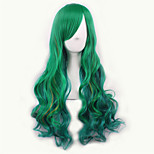 Green/Yellow Lolita Ombre Wig Pelucas Pelo Natural Synthetic Wigs Heat Resistant Perruque Cosplay Wigs Curly Peruca