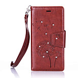 For Huawei Ascend P9 Lite/P9 Luxury Retro Dandelion Diamonds embossed wallet Phone Cover With Stand Card Holder