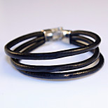 High Quality Gift Summer Style Multilayer PU Leather Men Anchor Bracelet