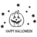 aw9429 Halloween Cartoon Wall Stickers Decorative Wall Stickers,VINYL    Removable Home Decoration Pumpkin Wall Decal