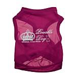 Gatos / Perros Camiseta Rosa Verano Tiaras y Coronas Moda