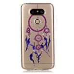 Hollow High Permeability Purple Bells Pattern TPU Soft Case Phone Case For LG G5/K5