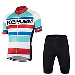 KEIYUEM®Others Summer Cycling Jersey Short Sleeves + Shorts Ropa Ciclismo Cycling Clothing Suits #60