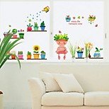 Robot Window Glass Pot Stickers Bedroom Waistline Wall Stickers Living Room Corridor Restaurant
