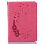 Corpo Completo carteira / Entrada de Cartão / Other Penas Couro Ecológico Macio Embossed leather Case Capa Para Apple iPad Air