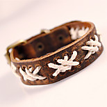 Fashion Mens Cool Punk Style Braided Handmade Brown Bracelets Jewelry For Any Party