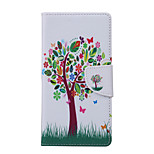 Tree Pattern PU Leather Full Body Case with Stand and Card Slot for Samsung Galaxy S6 Active