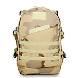 40 L Rucksack Camping & Hiking Outdoor Waterproof Khaki Nylon