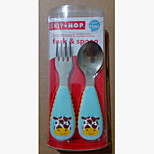 Stainless Steel  Baby Fork and Spoon 1-3 years old / 3-6 years old Baby (Giraffe)