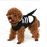 Gatti / Cani Costumi / T-shirt Nero / Bianco Estate / Primavera/Autunno Teschi Cosplay / Halloween, Dog Clothes / Dog Clothing-Other