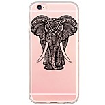 Elephant Pattern TPU Soft Ultra-thin Back Cover Case Cover For Apple iPhone  6 Plus / iPhone 6s/6 / iPhone 5s/5