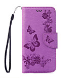 PU Leather Material Butterfly Embossing Pattern Phone Case for Huawei Y5 II