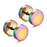Men's Fashion Dumbbell Style Titanium Steel Stud Earrings